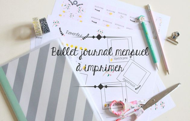Bullet journal de novembre {printables}