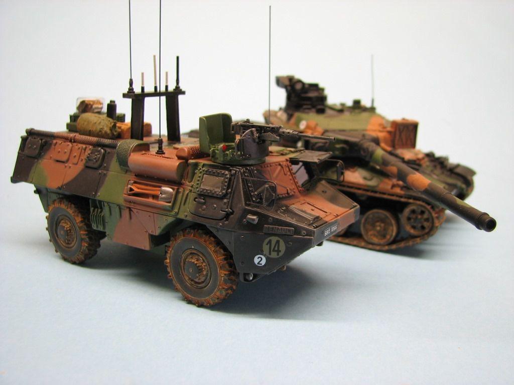 VAB Venus, AMX-30 B2 et PPLOG au 1/48 (par Robert B.)