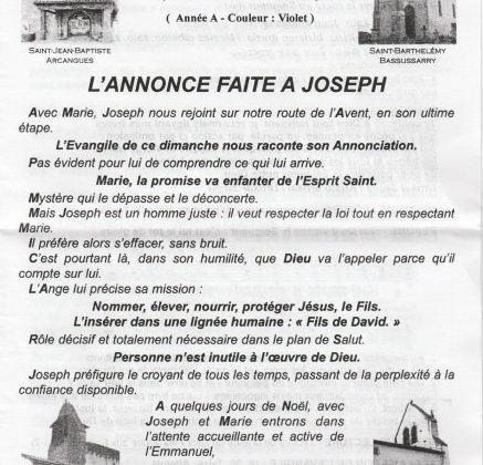 L'ANNONCE FAIT A JOSEPH