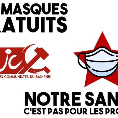 Masque obligatoire partout dans l'Eurométropole, notre santé c'est pas pour les profits !