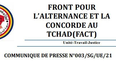 Tchad: le FACT condamne les arrestations des manifestants