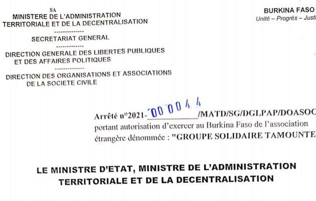 Accréditation finale de notre ONG au #burkinafaso
