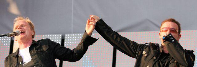 Bono participe à un concert d'Herbert Gronemeyer