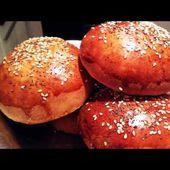 Recette de pains burgers