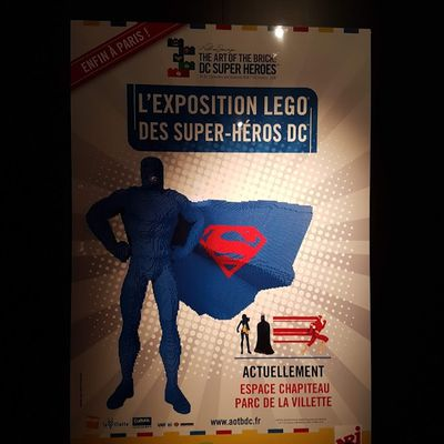 Exposition the art of the brick Dc super heros
