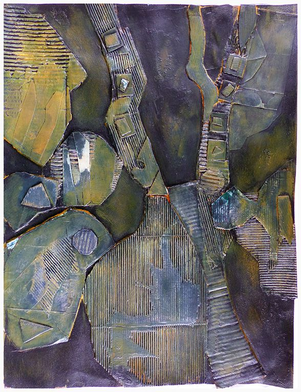 Christiane Benoît - Monotype et collage relief