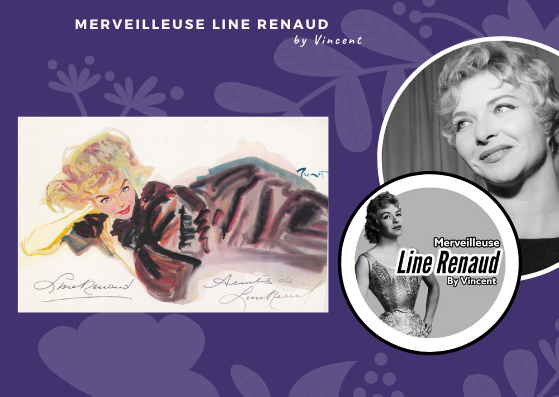 CARTE POSTALE : Line Renaud
