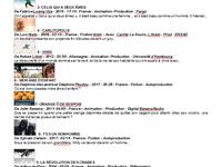 Voici le liste des films programmés lors des Kinocourts - A bientôt