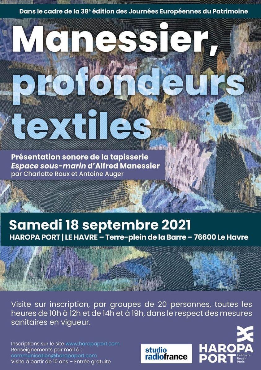 Profondeurs textiles : Manessier, Journées du Patrimoine, Le Havre