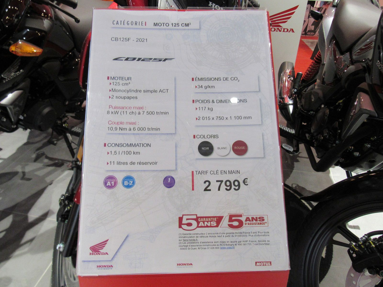 honda cb125f édition 2021 chez adn moto 30