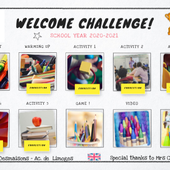Welcome challenge 6° by laetitia.desmaisons on Genially