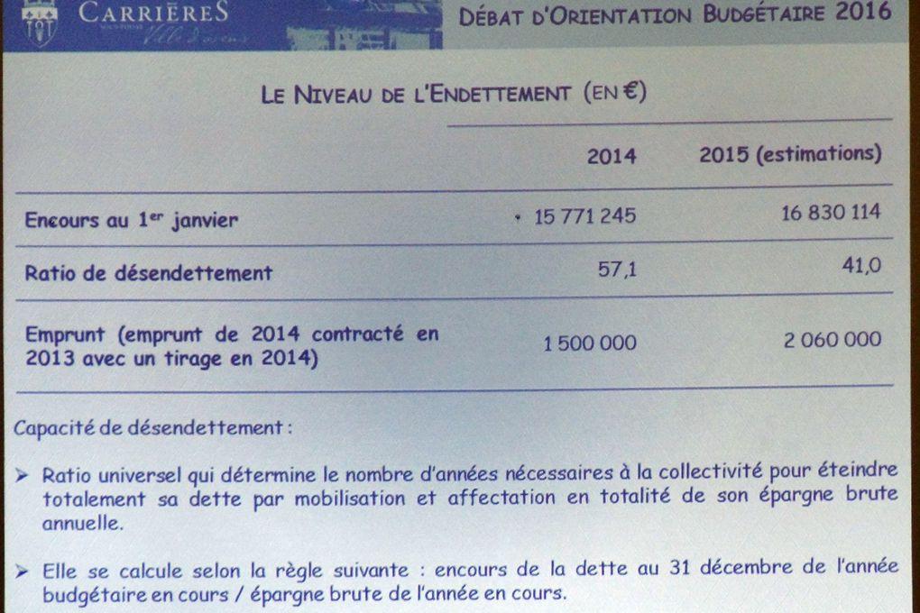 Débat d'orientation budgétaire de la ville de Carrières-sous-Poissy
