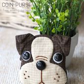 Puppy Coin Purse - Boston Terrier   Craft Passion - Free Sewing Pattern