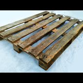 Do not throw away old pallets! Cool idea