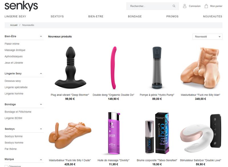 Captures d'écran du site Senkys - tous droits réservés