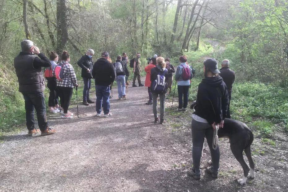Ce matin, des proches de Delphine Jubillar ont entamé de nouvelles recherches aux abords de la commune de Cagnac-les-mines dans le Tarn. • © H.Jacques / FTV