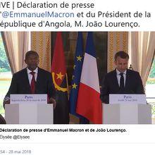 RDC: Déclaration de presse des Présidents Macron et Lourenço #1