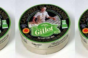 Rappel produit : Camembert de Normandie au lait cru Bio 250 g de marque Gillot Vert