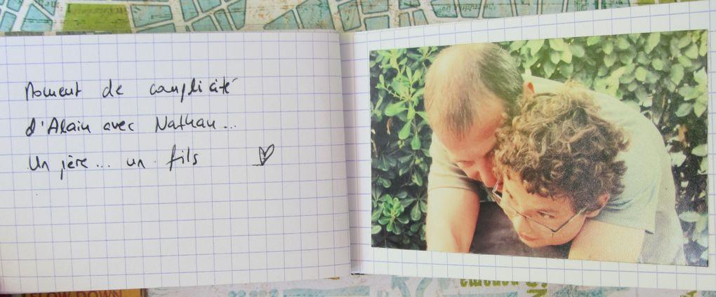 Un vieux Kit de Scrap Horizon avec un tuto de Valérie Portais... super sympa à réaliser et j'y ai mis les photos de nos vacances à Frontignan en juillet 2012...