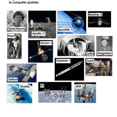 la conquête spatiale, document et fiche de lecture pour cycle 2