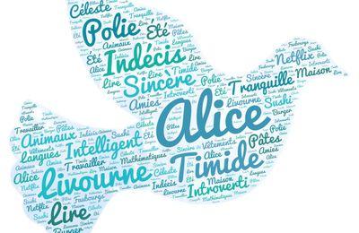 Autoportrait sur un nuage - Alice