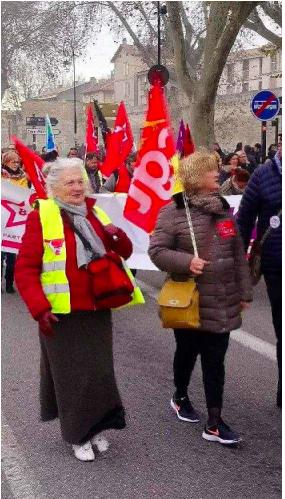 14 janvier, retraites:  2 à 3000 manifestants à Avignon malgré l'enfumage Berger-Macron