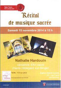 Concert de Nathalie Hardouin