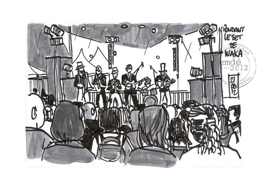 Fête de la Musique 2012 / croquis de concerts