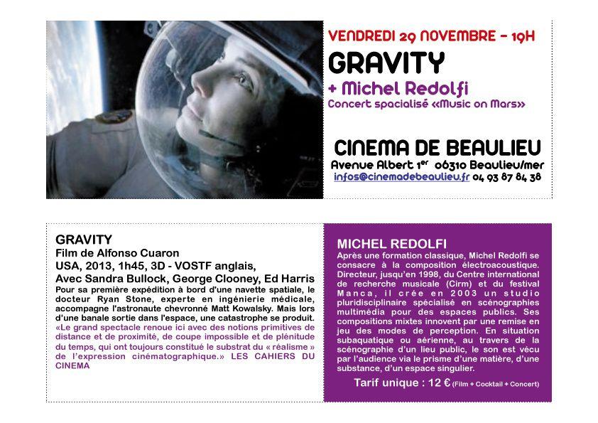 [ Concert Spatialisé ] Music on Mars ( 29 nov '13, cinéma de Beaulieu-sur-Mer )