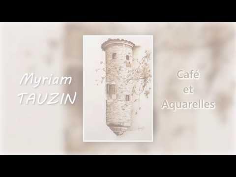 """Exposition """"Café et aquarelles"""" Castelculier -4 octobre 2018- Montage photo"""