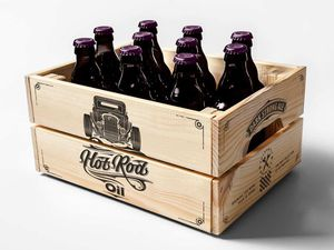 Packaging : Hot Rod Oil Beer, la bière super classe