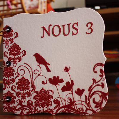 """Mini album scrapbooking """"Nous 3"""""""