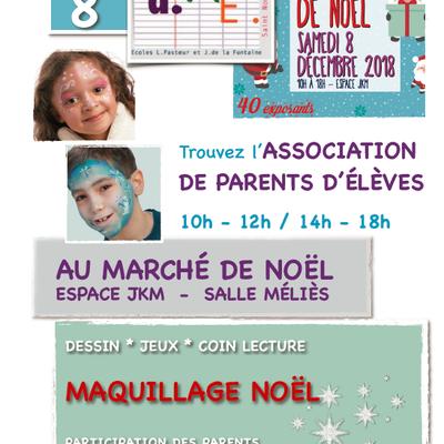Atelier APE au marché de Noël - samedi 8 décembre 2018