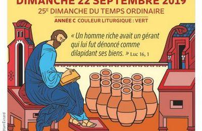 Paroisses de Genlis et Saint Just de Bretenières - Semaine du 21 au 29 septembre 2019 -  25ème dimanche ordinaire - Messe de rentrée