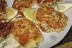 Fishcakes à la grecque (nuggets de poisson)