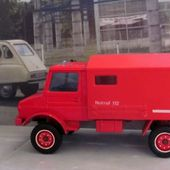 MERCEDES UNIMOG AMBULANCE POMPIERS SOLIDO 1/50 - car-collector.net