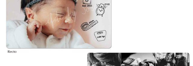 Le faire part de naissance de la douce Esmée ... photos et pictogrammes