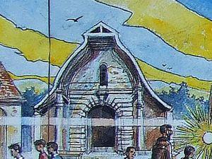 Pastorale du pôle de Fontainebleau, détail. Encre, aquarelle et gouache sur papier 35x70 cm 2017/2018 Bhavsar