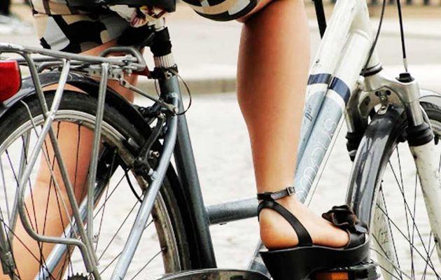 Je me déplace à vélo