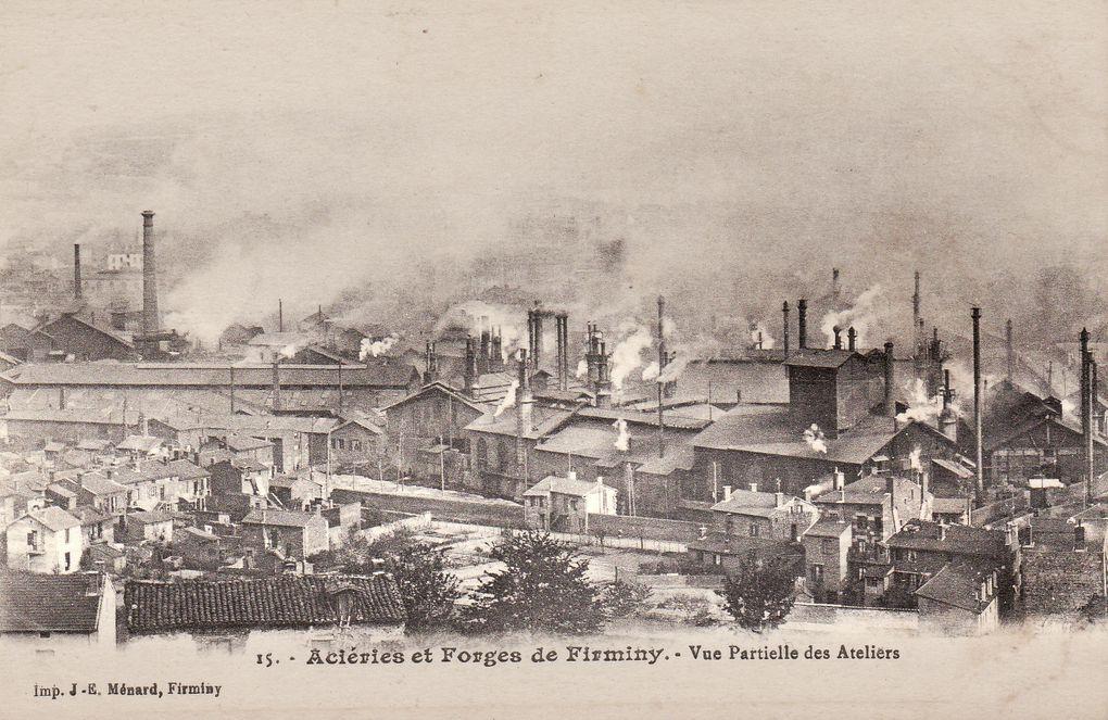 vues générales des aciéries de Firminy