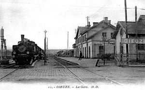 La gare de Dieuze d'où embarqua Gaston Riou...