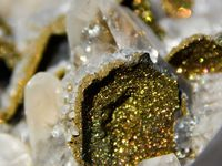 Calcite on Chalcopyrite from Sweetwater Mine, Missouri, USA (size: Museum)