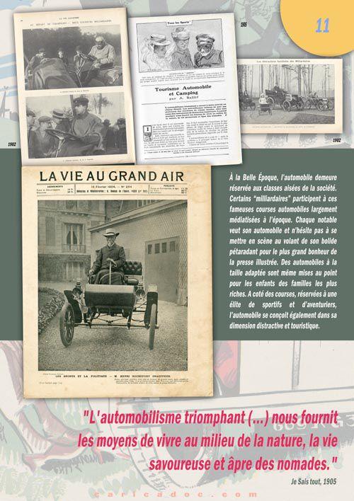 La Belle Époque de l'automobile : exposition itinérante à louer / imprimer