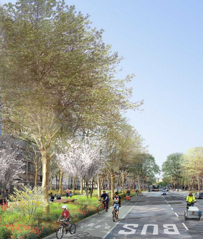 Plan et esquisses d'architecte de la rue de la Chapelle réhabilitée - Copyritgh-Celine-Orsingher - 2020/2021