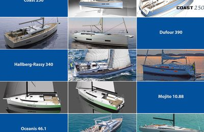 Qui sont les 19 voiliers concourant au titre de European Yacht of the Year 2019 ?