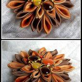 FLOWER - Tuto TSUMAMI KANZASHI (Introduction et forme de base, tissu chauffé)