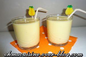 Smoothie ananas et lait de coco