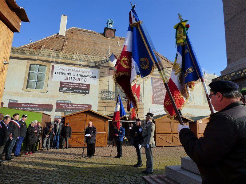 Hommage National aux Morts pour la France en AFN ce 5 décembre 2017 à Neuf Brisach