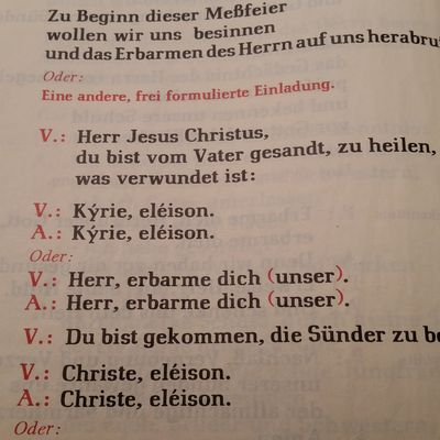 Das Kyrie in der Messe