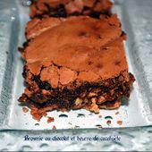 Brownie au chocolat et beurre de cacahuète -